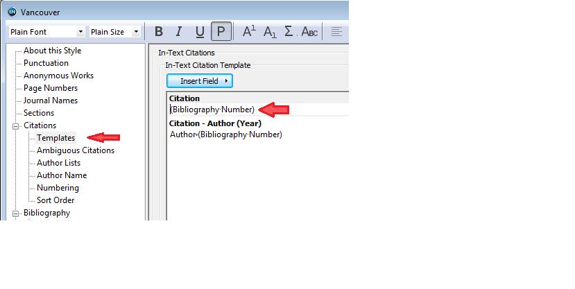 تمپلیت (template) یا قالب سایتیشن (citation) در استایل اندنوت